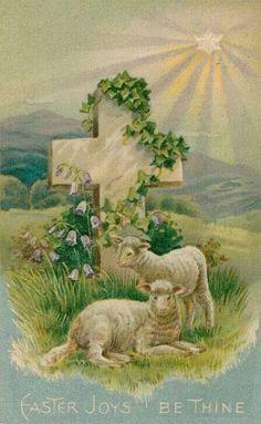 Easter Joy LambHot Cross BunVintage PostcardsVintage ImagesVintage