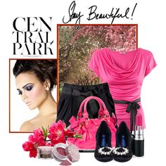 Central Park Pink, created by polybaby on Polyvore    Beautiful combination with Le Bunny Bleu!