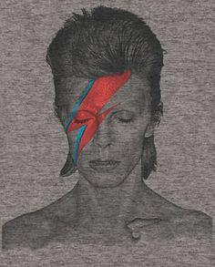 Mens David Bowie Tri Blend Distressed Aladdin Sane Tee Shirt