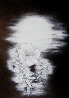 FUNNY画「月光る華」[鈴木 孝治] | ART-Meter