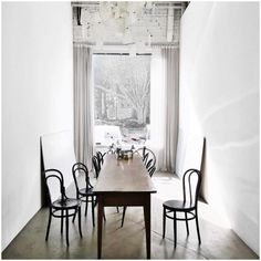 Long narrow table for our dinning room/library | LA COOL & CHIC