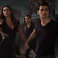 "Love will tear them apart | ""The Vampire Diaries"" Season 6 Poster Tears Damon And Elena Apart"