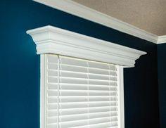 simple wood mantles | Custom Built Wood Cornices | Wood Window Cornice | Window Valence ...