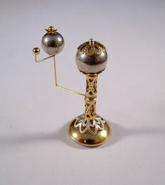 Miniature Medieval Movable Silver and Gold Earth Orrery Ooak Dollhouse Mini
