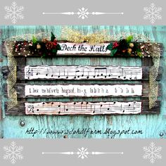 Deck The Halls - Pallet Art for Christmas