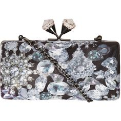 Jewel print box clutch ($27) ❤ liked on Polyvore