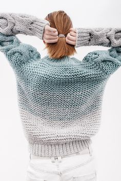 gradient knitted sweater