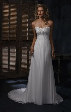 Carmella - Maggie Sottero. yeah, slight obsession with Chiffon now. perfect for summer tho.