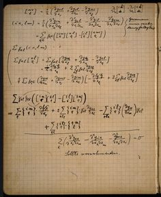 A glimpse into Einstein's private notebook to see his calculations during the…