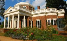 Designed by Thomas Jefferson in the neoclassical style, Monticello sits on a mountaintop 70 miles northwest of Richmond in Charlottesville, Virginia.