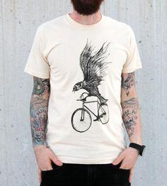 """Bird On A Bike"" tee"