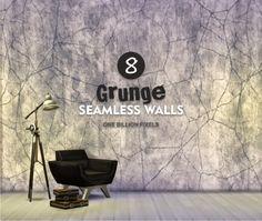 One Billion Pixels: 8 Grunge Seamless Walls • Sims 4 Downloads