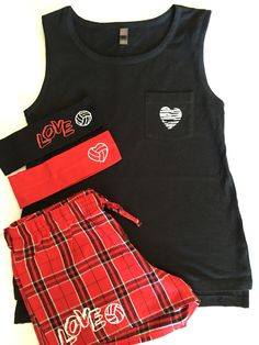 Just in time for Valentines day, or any day. These cute pajamas are perfect for your volleyball player, or volleyball bestie. These are girls junior sizes. Include a short, top and 2 headbands and som Volleyball Store, Volleyball Outfits, Volleyball Players, Cheerleading, Cute Pajamas, Girls Pajamas, Fleece Pants, Cotton Fleece, Pajama Shorts