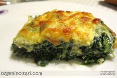 spinach, baked spinach, spinach gratin Before the century, foods from animal origin were avoided Healthy Casserole Recipes, Vegetarian Salad Recipes, Meat Recipes, Low Carb Recipes, Healthy Recipes, Vegetarian Appetizers, Healthy Salads, Spinach Bake, Dinner Salads