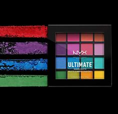 NYX PROFESSIONAL MAKEUP Ultimate Shadow Palette, Eyeshadow Palette, Brights (1 Count) Eyeshadow Base, Eyeshadow Primer, Eyeshadow Makeup, Eyeshadow Palette, Nyx Palette, Make Eyes Pop, Netflix Gift Card, Get Gift Cards, Coconut Health Benefits