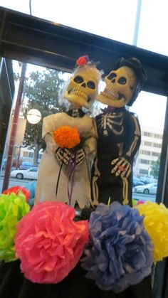 Los muertos atop an altar by MAYAHUEL at the Museum's Day of the Dead party on Oct. 25, 2013.