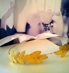 """""""the m word"""" marriage material : gold plated wedding crowns for a beautiful Greek wedding!"""