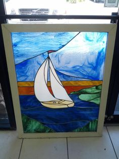 Stained Glass,Sailboat from Black Dog Salvage | Around Our ...