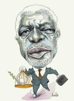Kofi Anan - Pancho Cajas