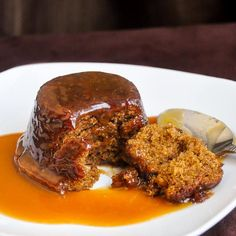The best sticky toffee pudding & toffee sauce I've ever tried. Its crumb structure stands up when baked but collapses in the mouth to a sticky soft texture