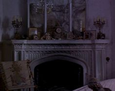 The fireplace in Mary's late aunt's room in The Secret Garden (1993). I do not own this image; no copyright infringement intended.
