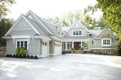 homes with grey roof shingles | ... Gray Shingle Exterior Plus Gray Shingle Siding With Stone Exterior And