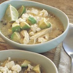 Williams Sonoma Mexican lime soup with chicken and avocado. Made this tonight. I used a whole chicken for more flavor. Like a cheater version of sopa de lima. Think Food, I Love Food, Food For Thought, Good Food, Yummy Food, Fun Food, Tasty, Mexican Food Recipes, Soup Recipes