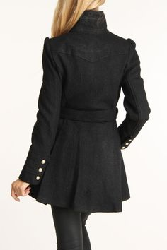 Love!!! Wish i could find this around here....):  Boucle Ruffle Placket Wool Coat
