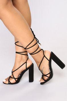 efc1fb5ce5b Wrap Her Up Heeled Sandal - Black. Lace Up Block Heel