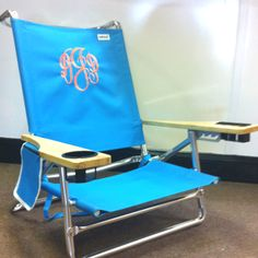 Monogram a beach chair! The monogram is $25..NEED for vaca