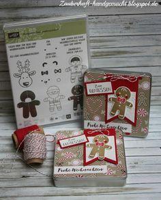Zauberhaft-handgemacht, Schokoladendose, Ausgestochen weihnachtlich, Mitbringsel, kleine Geschenke, SU, Stanze Lebkuchenmännchen