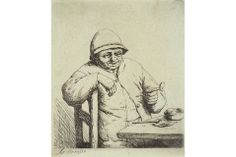 Rembrandt's work and legacy celebrated at the Art Gallery of Greater Victoria. Adriaen Van Ostade, The Smiling Smoker.  12/29/13