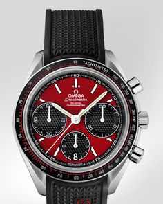 09215a99efe OMEGA Watches  Speedmaster Racing - Steel on rubber strap -  326.32.40.50.11.001