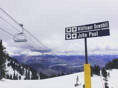 Watching summer creep into the valley while enjoying the last few days of the season! #SnowbasinResort #Snowbasin75
