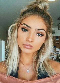 summer makeup and hair.