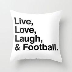 And Football! Throw Pillow   dotandbo.com