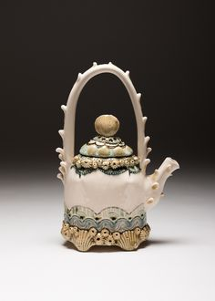 Claire Prenton Ceramics, 2015 , porcelain. Barnacle Teapot.