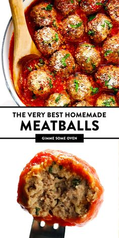 Serve it with Italian marinara sauce, Swedish cream sauce, American bbq sauce, Thai curry or whatever sounds good! Italian Recipes, Beef Recipes, Cooking Recipes, Homemade Meatball Recipes, Best Baked Meatball Recipe, Best Italian Meatball Recipe, Homemade Italian Meatballs, Barbecue Recipes, Cooking Tips