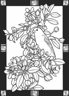 From: Leaves of the Seasons Stained Glass Coloring Book