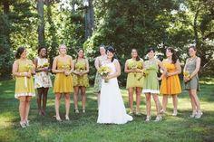 casual, rustic outdoor wedding