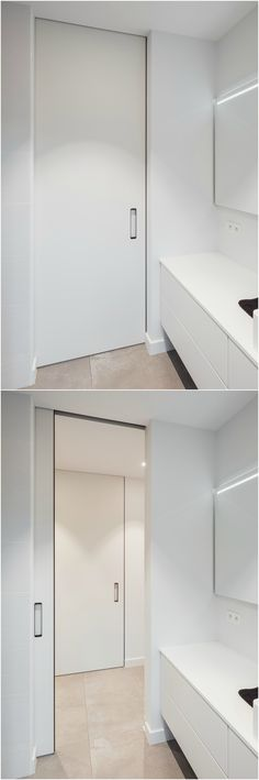 Doubles portes coulissantes invisibles prêtes à peindre Porte d