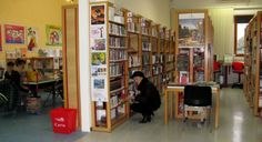 Biblioteca comunale di Baia Flaminia a Pesaro; public #library in #Marche; the place of  #culture and #creativity