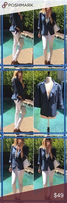 👜Le Bos👜 Super sleek Le Bos jacket, brand new/tags shining perfection!. Super chic for the office, also  chic for evening okay time after hours!. This was a two piece set, selling only jacket as looks so nice solo!. Le Bos Jackets & Coats Blazers