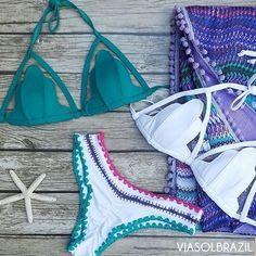 Sereia+Boho Beach  Top Concha Tule com espuma similar a bojo e calcinha empina com detalhes em crochê www.viasolbrazil.com.br Avulsos/P ao GG! . . . #concha #topconcha #sereia #mermaid #mermaidlife #amobiquini #modaverao #verao #atacado #varejo #biquini #blogueira #brasil #empinabumbum #fhits #levantabumbum #modapraia #praia #promo #sol #tendencia #verao2017