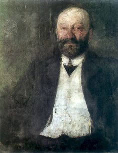 The Athenaeum - Portrait of the Artist's Father (Olga Boznańska - )