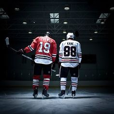 Patrick Kane and Johnathan Toews. Even though I'm not a hawks fan, they're a dream team