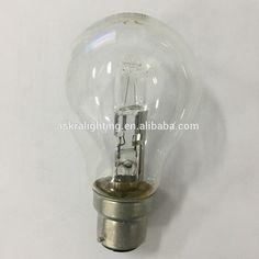 Competitive price A55/A60 halogen bulb light 110v-240v e27/b22 52w CE