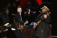 Chris Stapleton, Justin Timberlake steal the show at CMA Country Music Awards Country Music Association, Country Music Awards, Chris Stapleton, Justin Timberlake, Good Music, My Music, Cma Awards, All About Music, Jessica Biel
