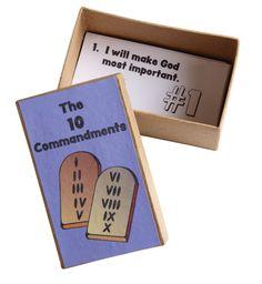 10 Commandment Boxes (471-688) from Guildcraft Arts & Crafts!