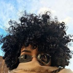 Big black curly natural hair